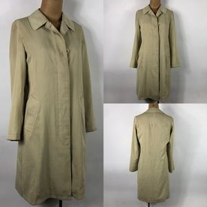 Burberry London Tan Raincoat Women's Coat SZ 2R